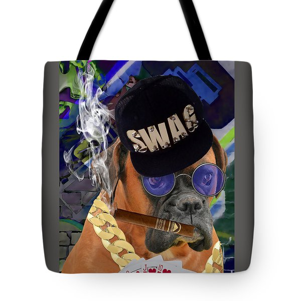 Tote Bag featuring the mixed media Showing My Cards by Marvin Blaine