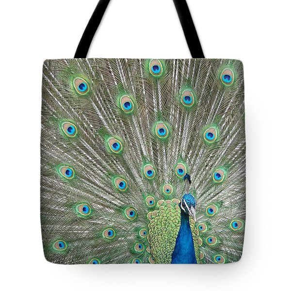 Tote Bag featuring the photograph Showing Off by Margaret Bobb