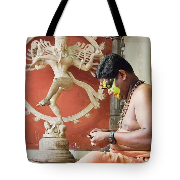 Kathakali Make-up Tote Bag by Marion Galt