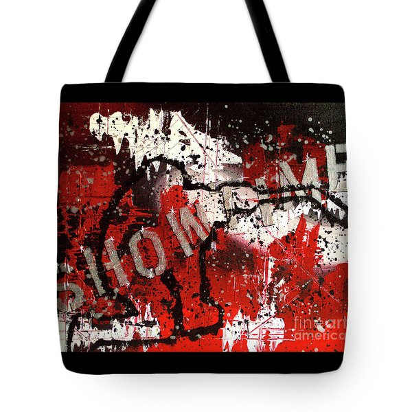 Tote Bag featuring the painting Showtime At The Madhouse by Melissa Goodrich