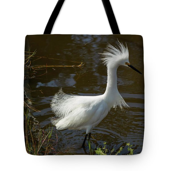 Showy Snowy Tote Bag