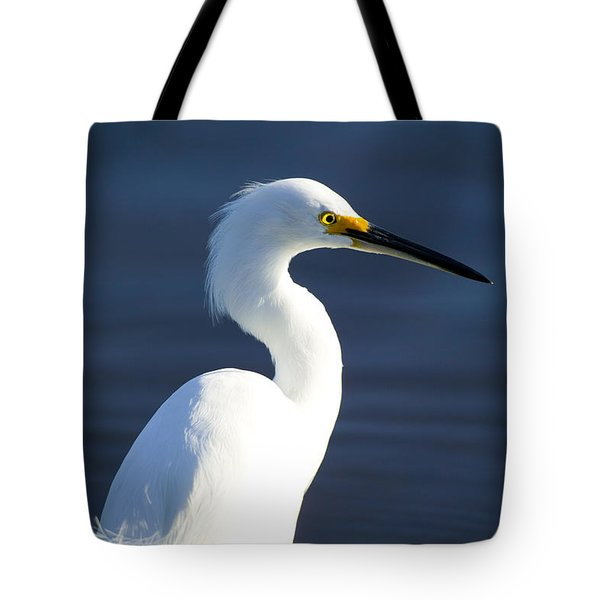 Showy Snowy Egret Tote Bag