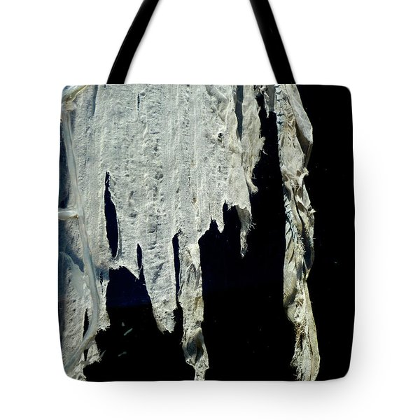 Shredded Curtains Tote Bag