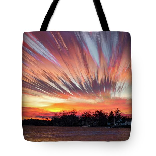 Shredded Sunset Tote Bag