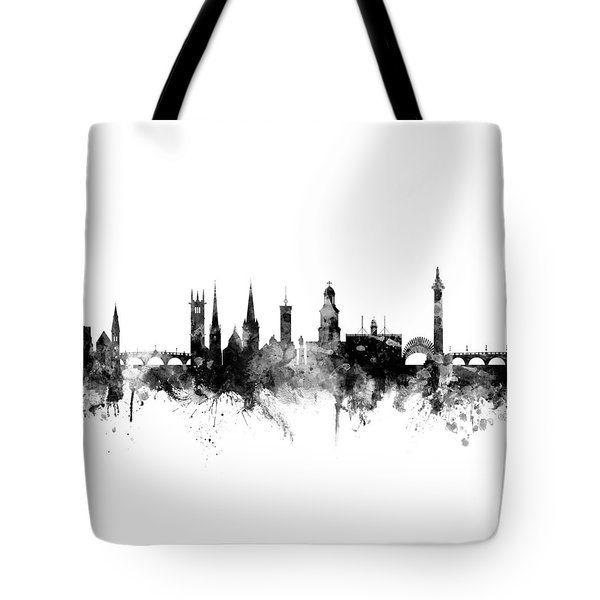 Shrewsbury England Skyline Tote Bag