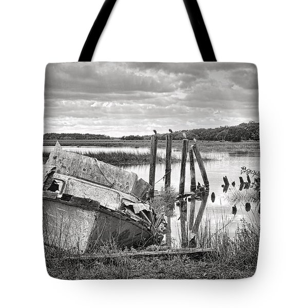 Shrimp Boat Graveyard Tote Bag