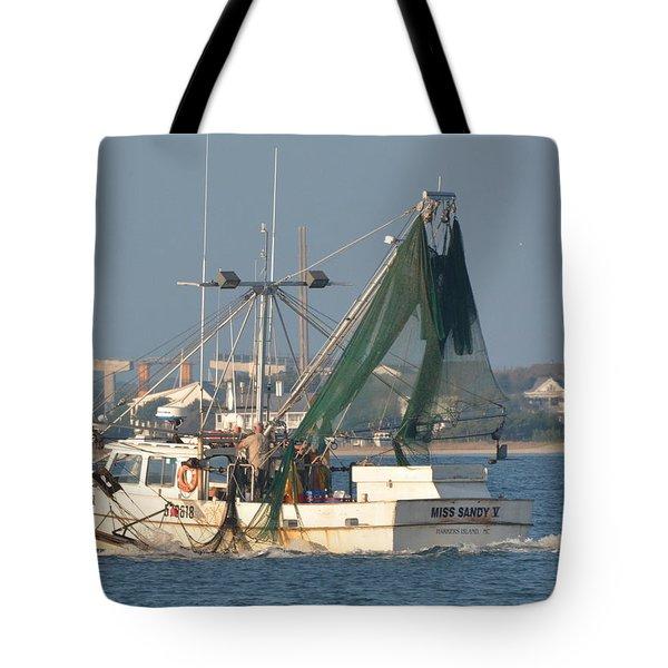 Shrimp Boat Near Beaufort Tote Bag