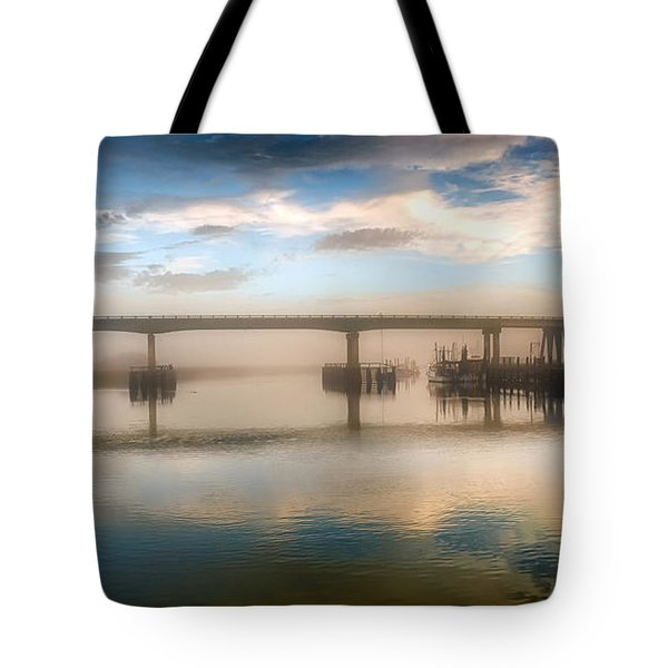 Shrimp Boats At Sunrise Tote Bag by Renee Sullivan