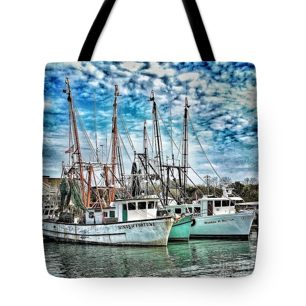 Tote Bag featuring the photograph Shrimp Boats by Donald Paczynski