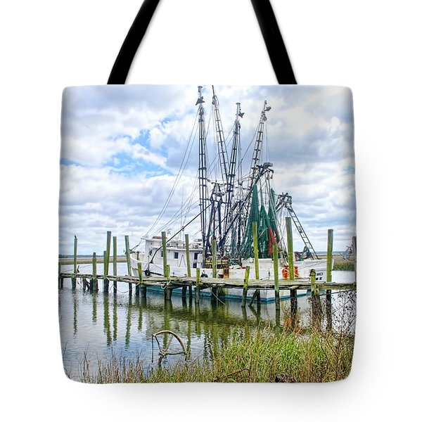 Shrimp Boats Of St. Helena Island Tote Bag