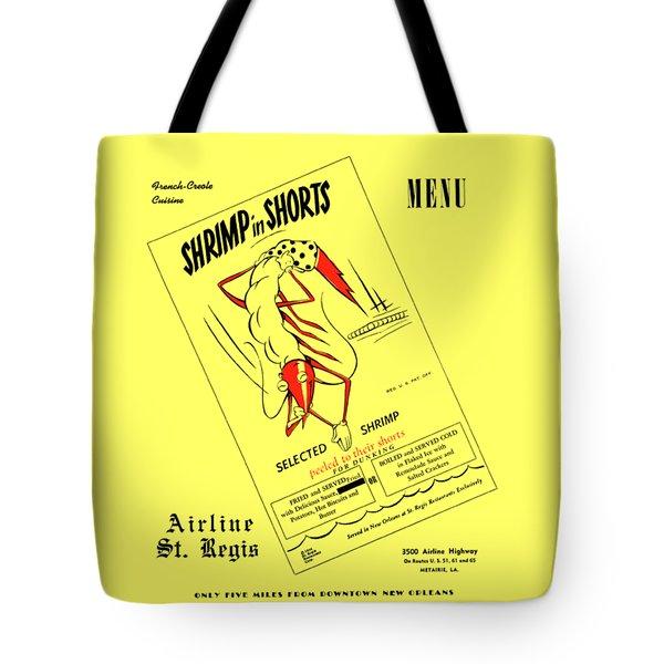 Shrimp In Shorts 1950s Tote Bag