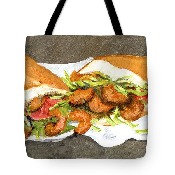 Shrimp On French Dressed Tote Bag by Elaine Hodges