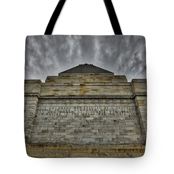 Shrine Of Remembrance Tote Bag
