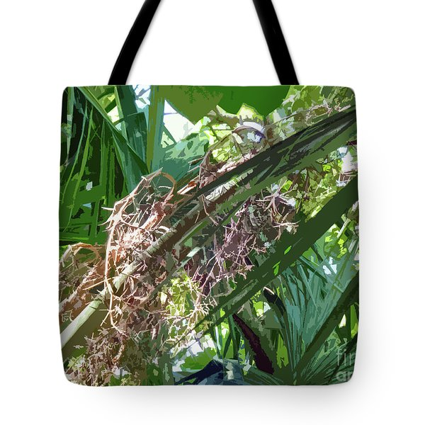 Tote Bag featuring the digital art Shrub In Tree Art by Francesca Mackenney