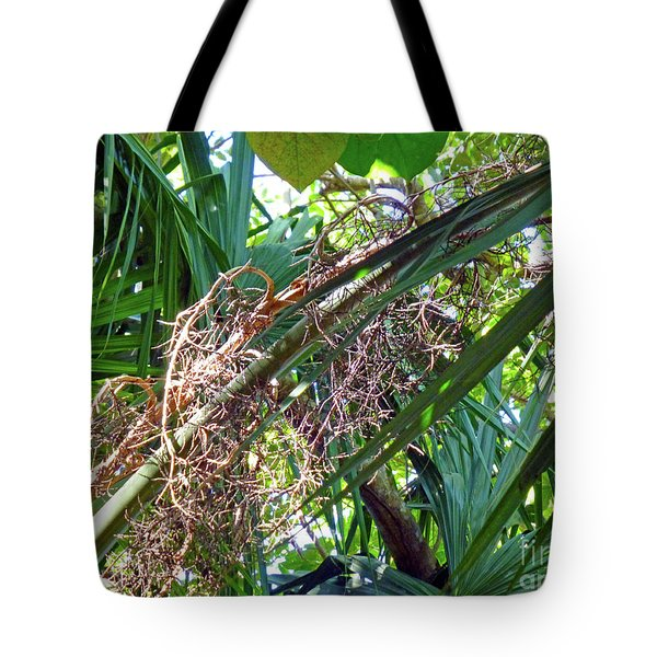 Tote Bag featuring the photograph Shrub In Trees Contrast by Francesca Mackenney