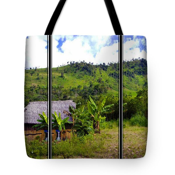 Tote Bag featuring the photograph Shuar Hut In The Amazon by Al Bourassa