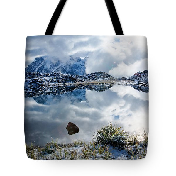 Shuksan In Fog Tote Bag by Idaho Scenic Images Linda Lantzy