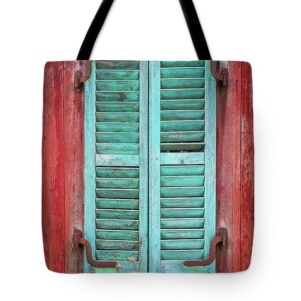 Old Barn Window - Shuttered Tote Bag