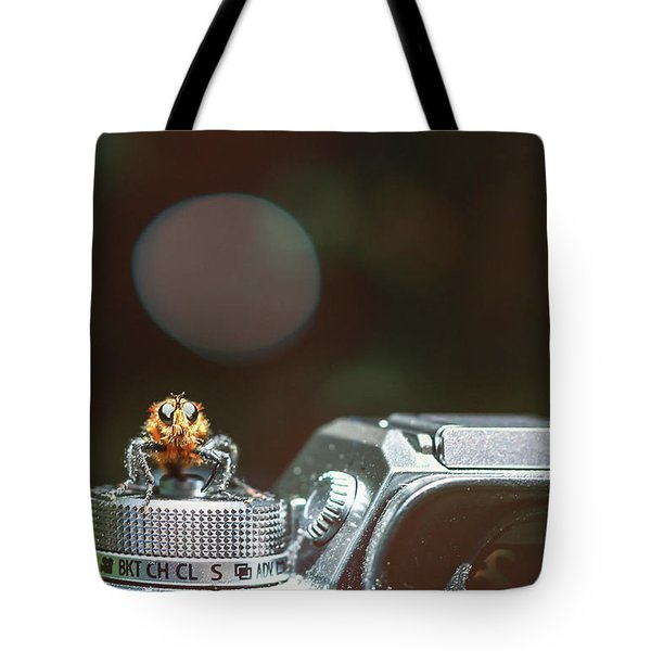 Tote Bag featuring the photograph Shutterbug- by JD Mims