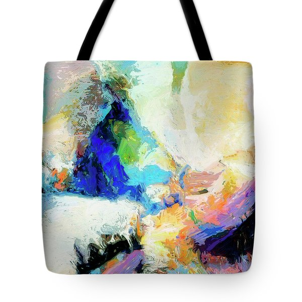 Tote Bag featuring the painting Shuttle by Dominic Piperata
