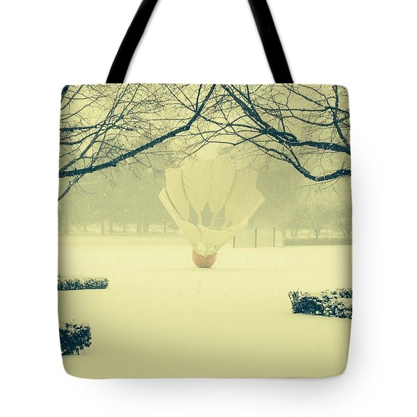 Shuttlecock In The Snow Tote Bag