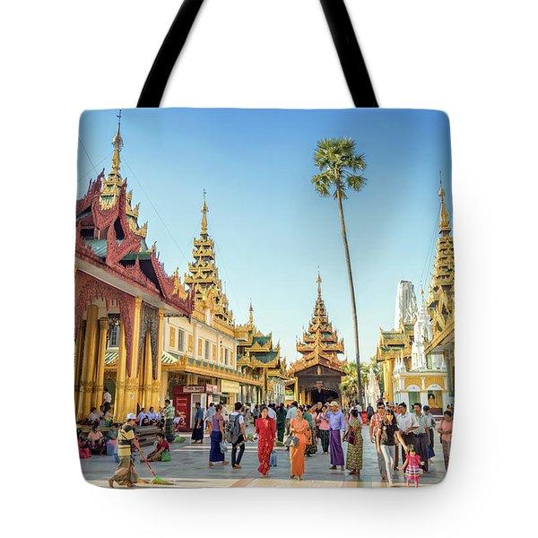 Shwedagon Pagoda Tote Bag