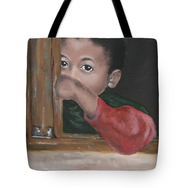Tote Bag featuring the painting Shy by Annemeet Hasidi- van der Leij