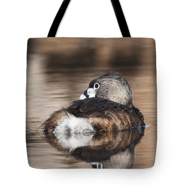 Shy Grebe Tote Bag