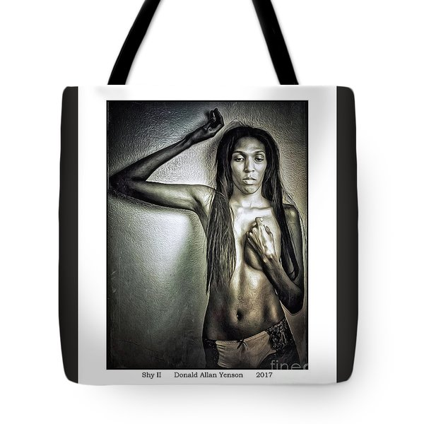 Shy II Tote Bag by Donald Yenson