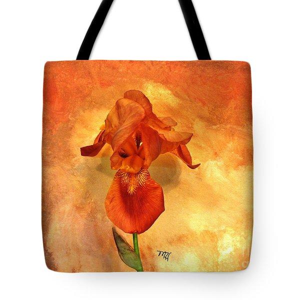 Shy Iris Tote Bag