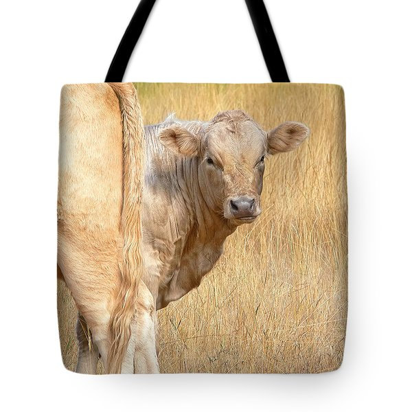 Shy White Calf Tote Bag by Jennie Marie Schell