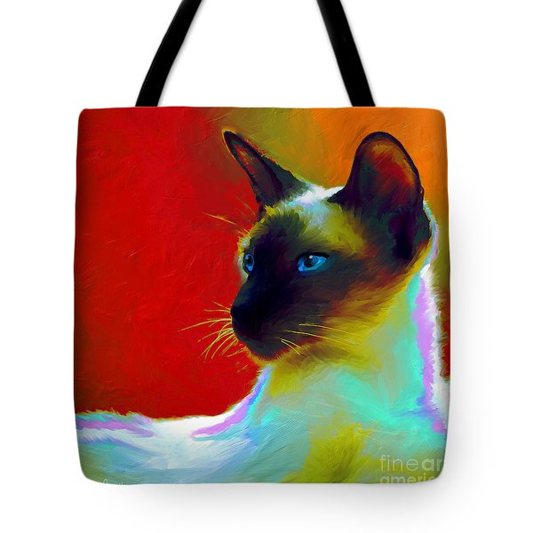 Siamese Cat 10 Painting Tote Bag