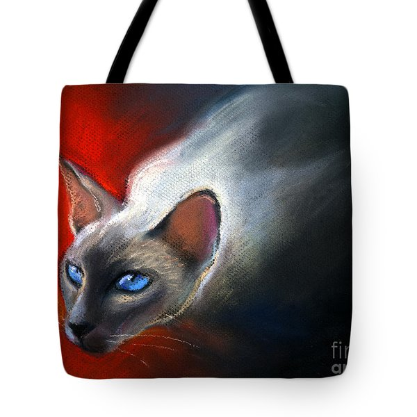 Siamese Cat 7 Painting Tote Bag by Svetlana Novikova