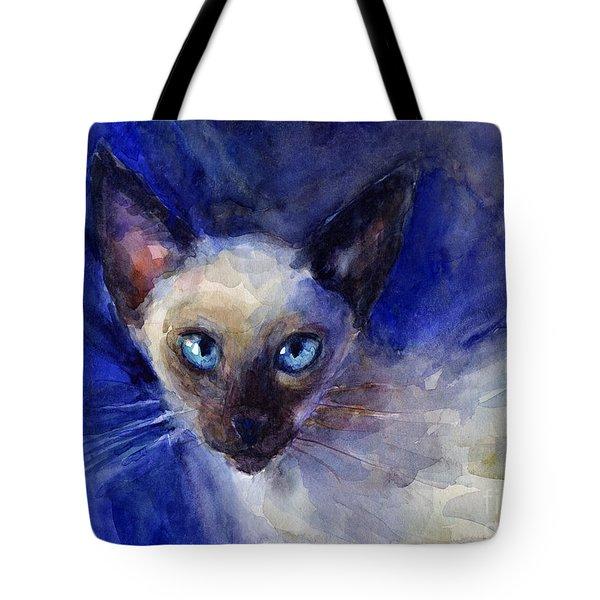Siamese Cat  Tote Bag by Svetlana Novikova