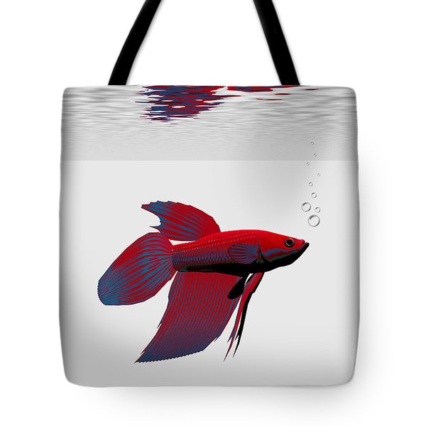Siamese Fighting Fish Tote Bag by Corey Ford
