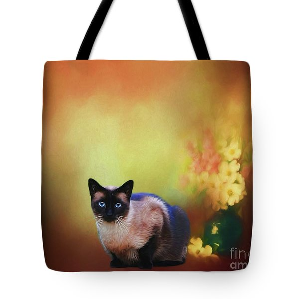 Siamese If You Please Tote Bag by Suzanne Handel
