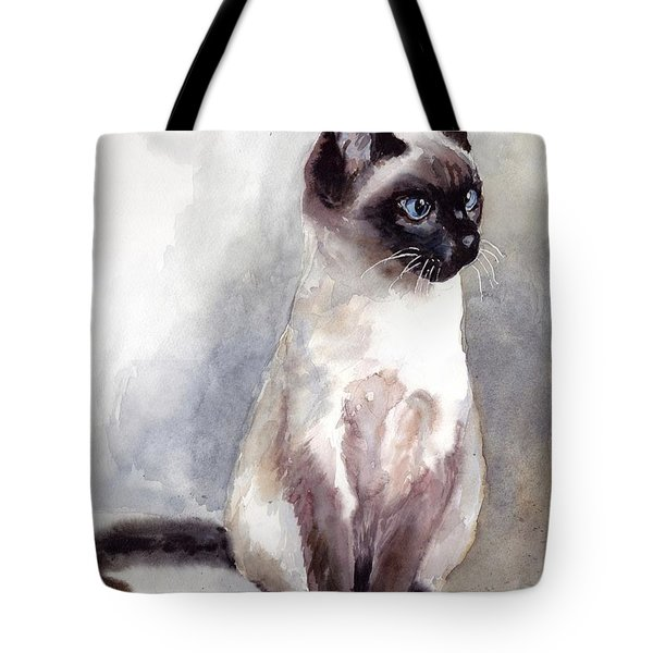 Siamese Kitten Portrait Tote Bag