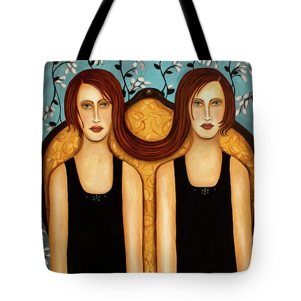 Siamese Twins Tote Bag by Leah Saulnier The Painting Maniac
