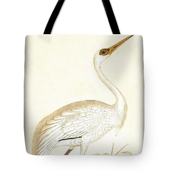 Siberian Crane Tote Bag