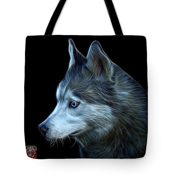 Tote Bag featuring the painting Siberian Husky Art - 6048 - Bb by James Ahn
