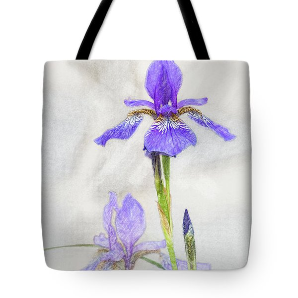 Tote Bag featuring the digital art Siberian Iris by Mark Mille