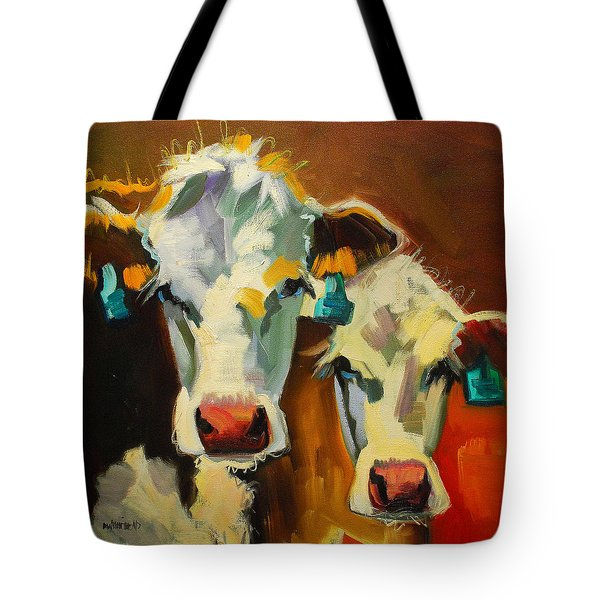 Sibling Cows Tote Bag