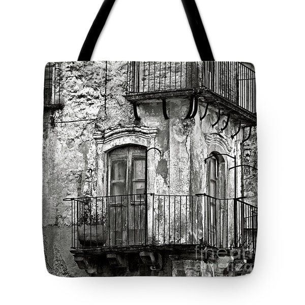Sicilian Medieval Facade Tote Bag