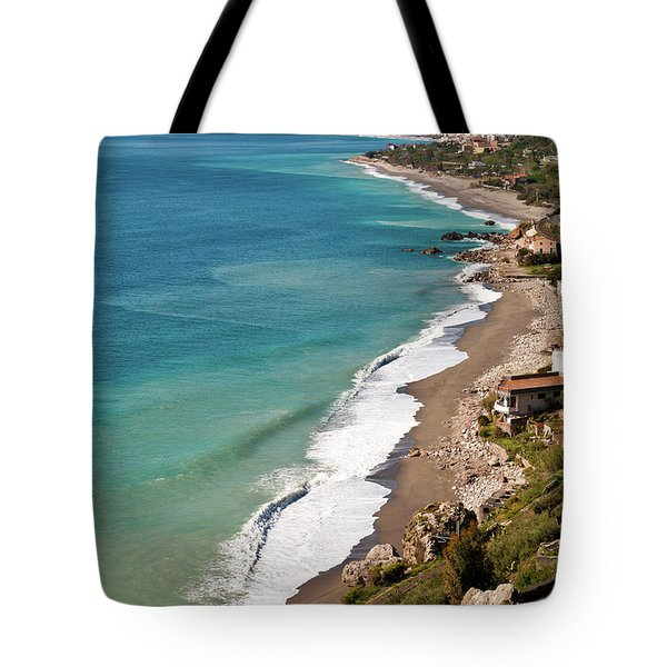 Tote Bag featuring the photograph Sicilian Sea Sound by Silva Wischeropp