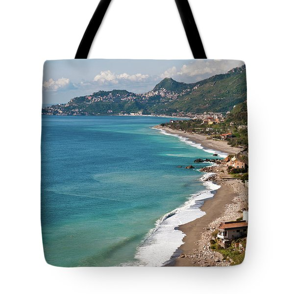 Sicilian Sea Sound Tote Bag