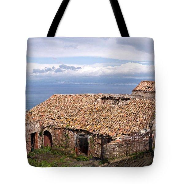 Tote Bag featuring the photograph Sicilian Forgotten Sound by Silva Wischeropp