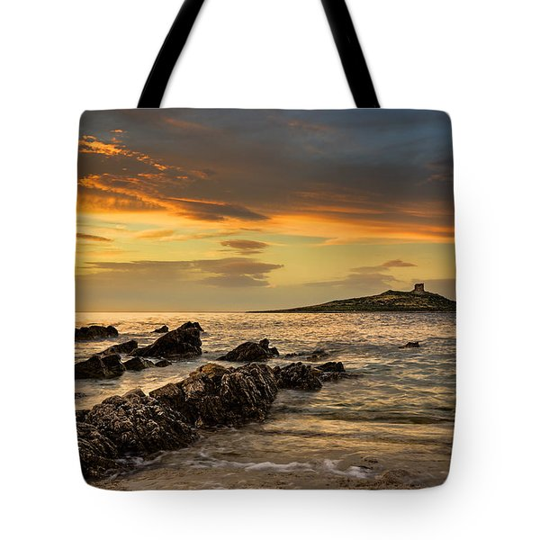 Sicilian Sunset Isola Delle Femmine Tote Bag by Ian Good