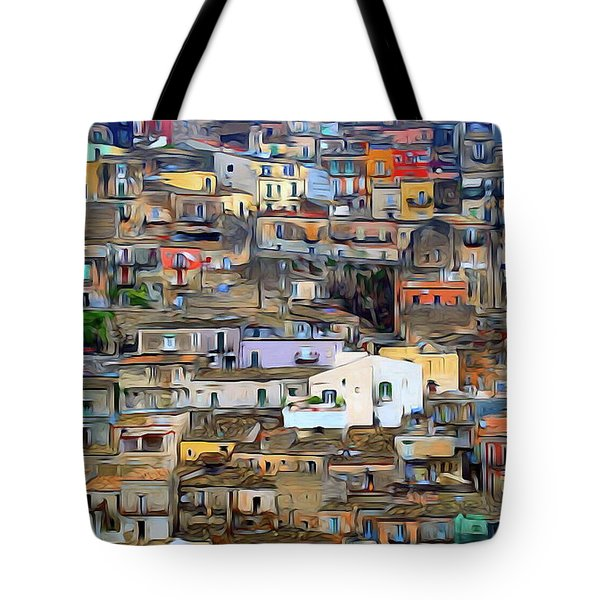 Sicily Italian Cityscapes Tote Bag by S Art