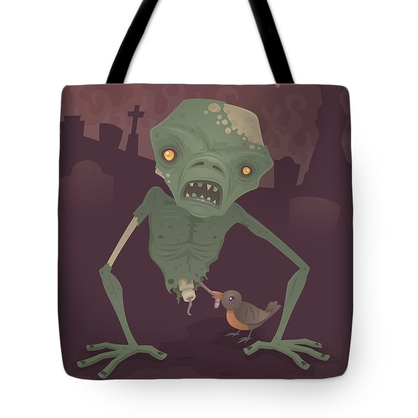 Sickly Zombie Tote Bag