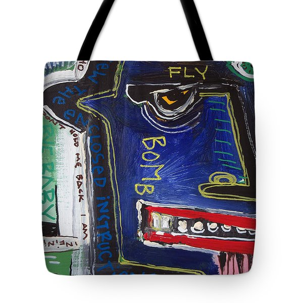 Tote Bag featuring the painting Sicko by Rick Baldwin